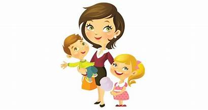 Mother Mom Single Clipart Cartoon Working Mommy
