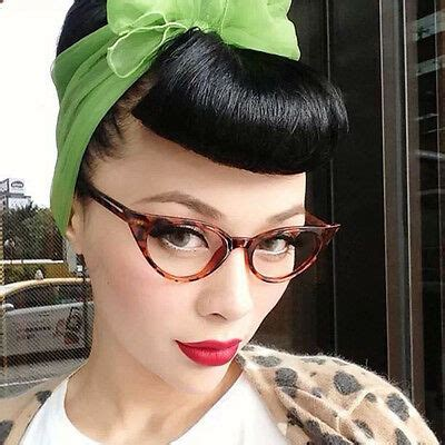Hairstyles For 50s With Glasses by Womens Rockabilly 50s Retro Style Pointy Sharp Cat Eye