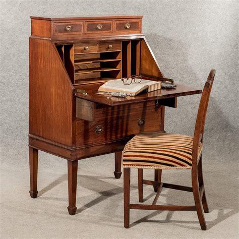 bureau desk antique writing desk bureau edwardian mahogany antiques