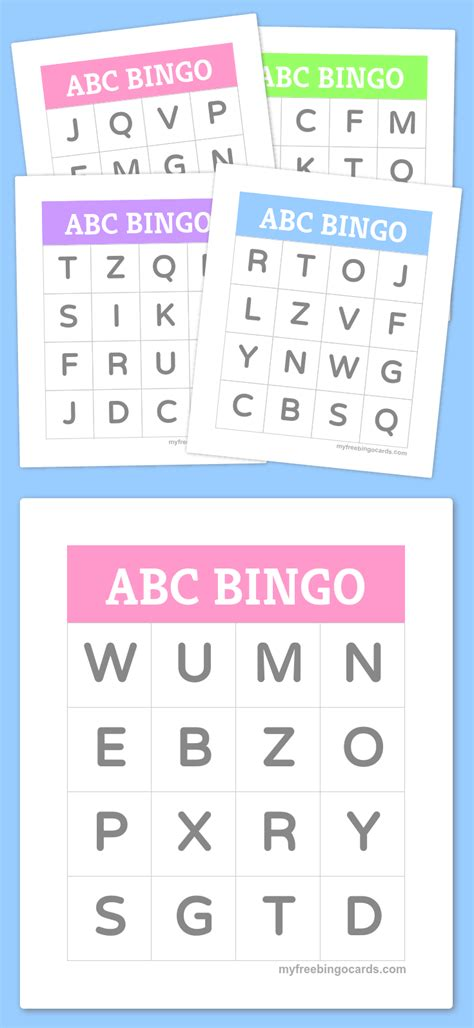 free printable bingo cards bingo cards alphabet bingo 104 | 9a2c3d301b34f8f3d72792872374ac3d