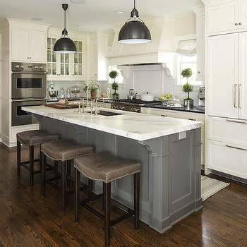 kitchen islands with sinks white kitchen cabinets with gray kitchen island