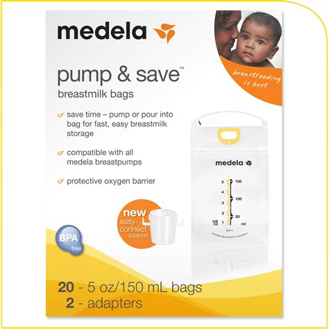 Amazoncom Medela Pump And Save Breast Milk Bags 20