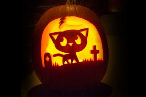 halloween pumpkin carving cat patterns pumpkin carving