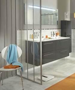 Salle De Bain Style Atelier : cloison amovible verriere lapeyre maison travaux ~ Teatrodelosmanantiales.com Idées de Décoration