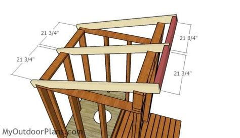 outhouse roof plans myoutdoorplans  woodworking