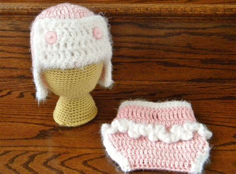 Free Crochet Diaper Cover Pattern 0 3 Months by Crochet Diaper Cover Pink 0 3 Month Crochet Aviator Eskimo
