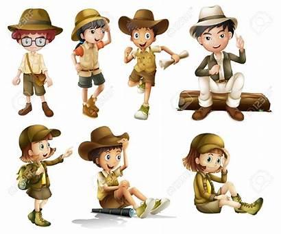 Safari Boy Clipart Boys Illustration Costume Adventurer