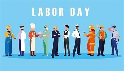 Labor Labour Celebration Professionals Vector Fire Clipart