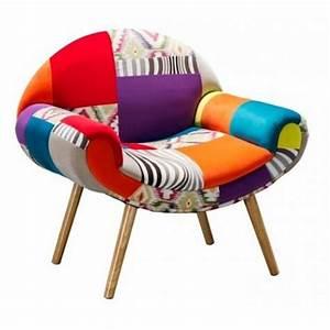 Fauteuil Scandinave Patchwork : fauteuil patchwork hippie chic ~ Teatrodelosmanantiales.com Idées de Décoration