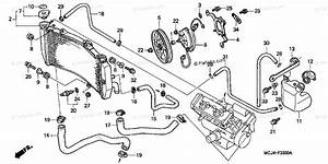 Honda Motorcycle 2001 Oem Parts Diagram For Radiator  1