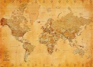Weltkarte Poster Vintage : vintage world map posters ~ Watch28wear.com Haus und Dekorationen