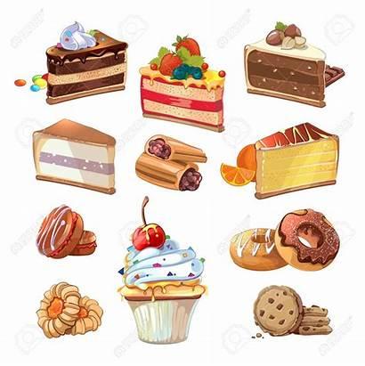 Cartoon Bakery Cake Pastry Sweet Dessert Dulces