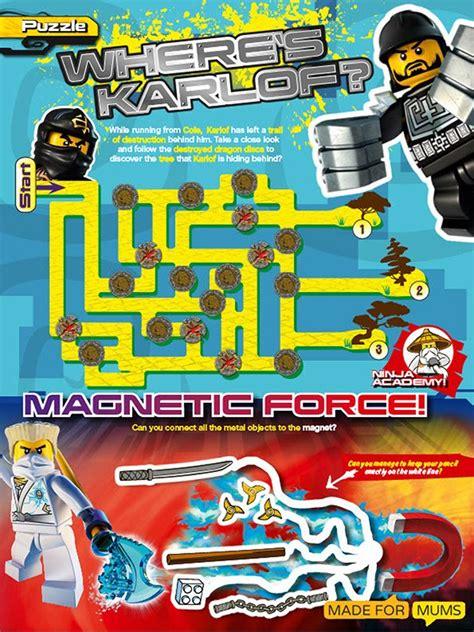 lego ninjago puzzle sheets  print  madeformums