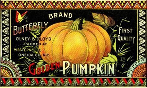 vintage halloween clip art pumpkin label  graphics