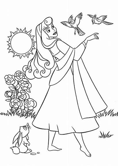 Coloring Princess Pages Aurora Bubakids