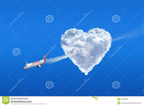Love Airline Love Is In The Air Stock Photography Image