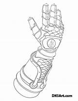 Gauntlet Coloring Outline Gauntlets Line Printable Would Knight Wear Link Fire sketch template