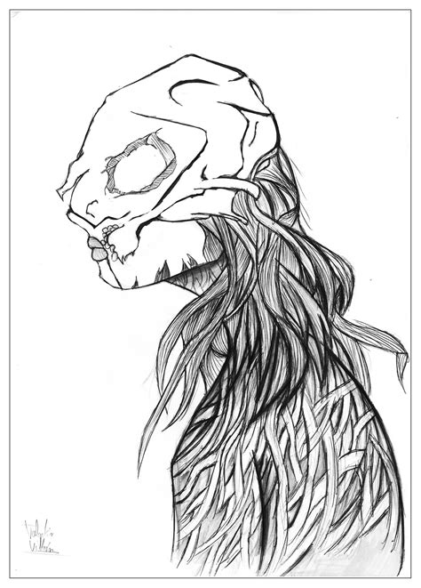 Draw manga demon - Unclassifiable Adult Coloring Pages