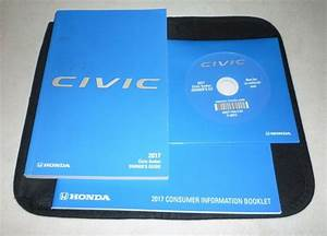 2017 Honda Civic Owners Manual Set Guide 17 Cd  Case Lx Ex