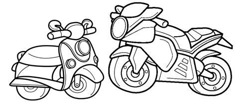 Desenho Para Colorir De Moto