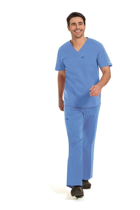 Ceil Blue Scrubs Landau 4115 landau workflow 4115 unisex stretch scrubs tops