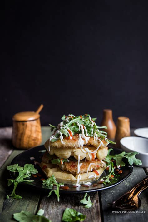 Grated parmesan cheese, flour, panko breadcrumbs, chicken breast tenders and 5 more. Panko Chicken and Waffles   What To Cook Today