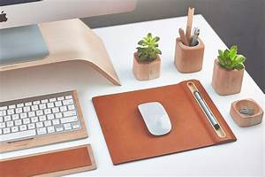 leather mouse pad maple pen tray cork base mat
