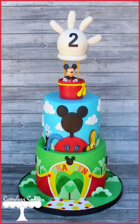 mickeys clubhouse cake  hot air balloon topper www