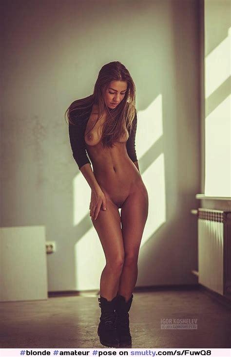 Blonde Amateur Pose Sunlight Photoshot Poland Polishgirl Madeinpoland Boots Nude