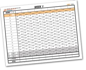 football pick em sheets  denver print company