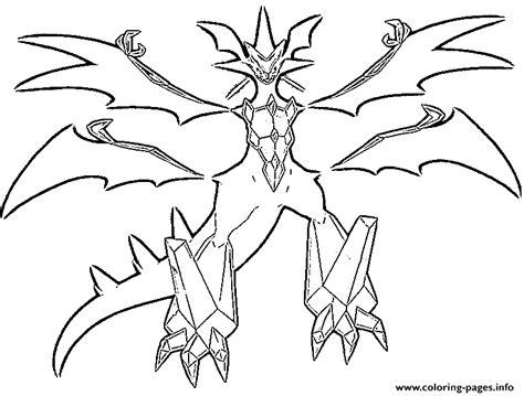necrozma pokemon legendary generation  coloring pages
