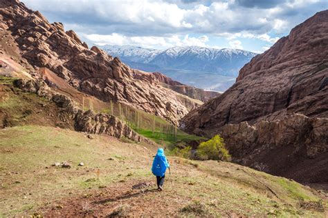 The Valley Of iran hiking in alamut valley and at the castle of the