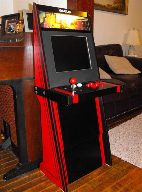 cheap arcade cabinet simple slim vewlix style cabinet from 1 of wood