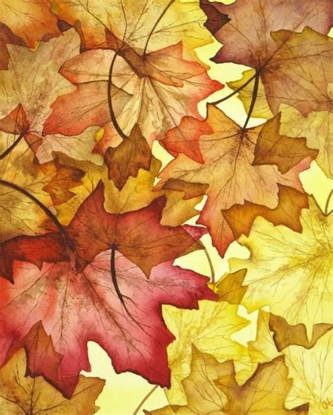 pin  dianna andersen   fall watercolor art