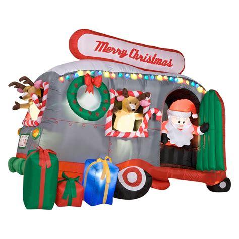 shop gemmy  ft inflatable santa  rv  lowescom