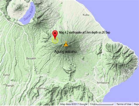 agung volcano bali indonesia likelihood  eruption