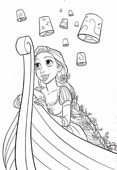 Rapunzel Pages Printable Tangled Activity