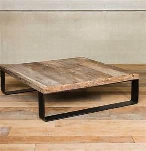 Table De Salon Bois : chehoma table basse en mtal et bois chehoma ~ Teatrodelosmanantiales.com Idées de Décoration