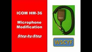 Icom Hm-36 Microphone Modification