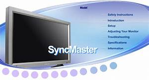 Syncmaster 320p Manuals