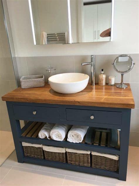 Rustic Bathroom Furniture by Solid Oak Vanity Unit Washstand Bathroom Furniture Bespoke