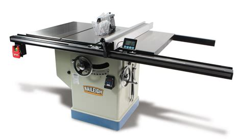 baileigh 24 in x 30 in professional cabinet table saw ts
