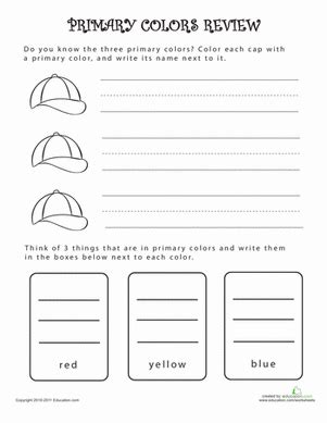 what are primary colors review coloring page education 474 | primary colors review life learning