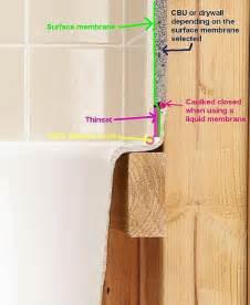 tiling a bathtub lip bathtub flange durock joint ceramic tile advice forums