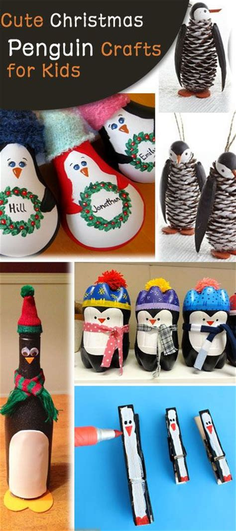cute christmas penguin crafts  kids hative