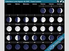 Calendario Lunar Agosto de 2003 Fases Lunares