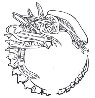 tattoo design  hrgigers alien mair perkins