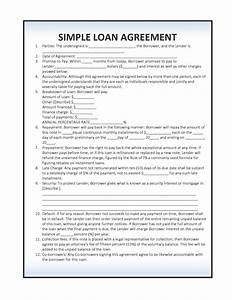 Downloadable And Simple Loan Agreement Template Page