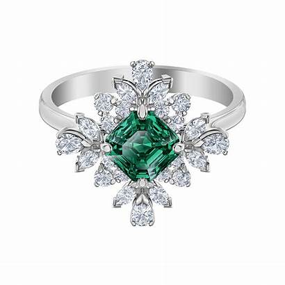 Palace Ring Swarovski Rhodium Motif Plated Anello