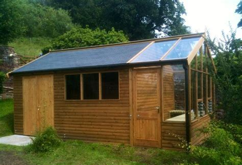 Garden Shed with Greenhouse Attached, heated   Garden